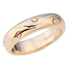 Bulgari 750 Yellow, White Gold Band Ring Size 5