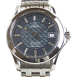 Omega Seamaster Jacques Mayol 2500.80 Stainless Steel Blue Auto 36mm Mens Watch 1997