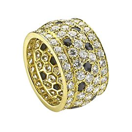 Cartier Panthere 18K Yellow Gold Black Onyx Diamond Ring Size 5.75