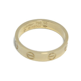 Cartier 18K Yellow Gold Mini Love Ring Size 5