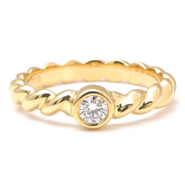 Tiffany & Co. 18K Yellow Gold with Diamond Ring Size 5.5