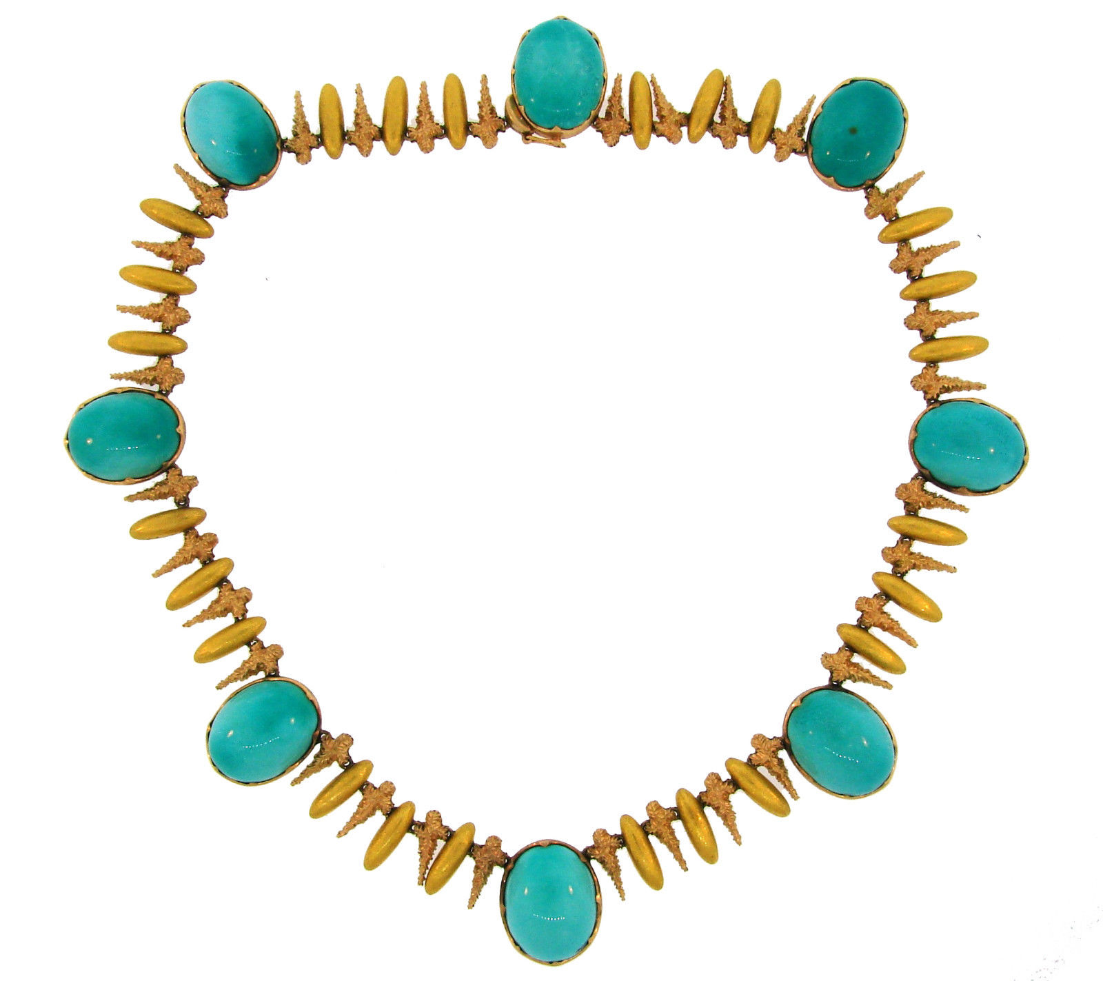 """Image of """"Buccellati 18K Rose & Yellow Gold Turquoise Necklace"""""""