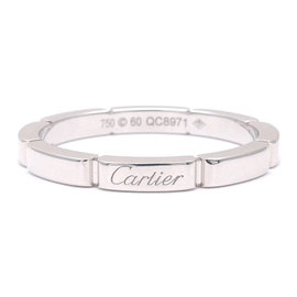 Cartier Maillon Panthère 18K White Gold Ring Size 9