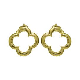 Van Cleef & Arpels Alhambra 18K Yellow Gold Diamond Earrings