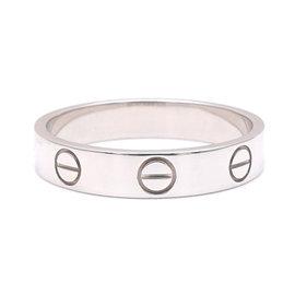 Cartier 18K White Gold Mini Love Ring Size 6
