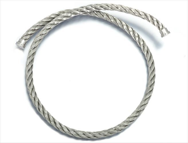 """Image of """"Fred of Paris Stainless Steel Double Cord Bracelet Bangle"""""""
