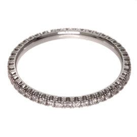 Cartier 18K White Gold Diamond Ring Size 4.0