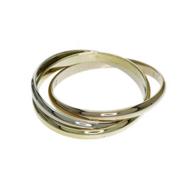 Cartier Trinity 18K Yellow, Rose & White Gold Ring Size 6.0
