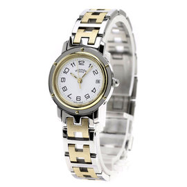 Hermes Clipper CL4.220 Gold Plated / Stainless Steel 24mm Womens Watch