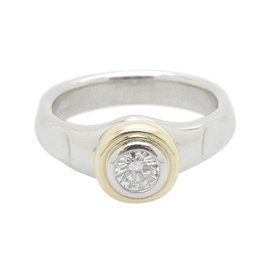 Tiffany & Co. Paloma Picasso 950 Platinum & 18K Yellow Gold with 0.25ct Diamond Ring Size 5.5