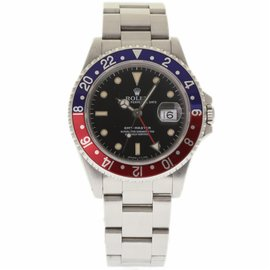 Rolex GMT Master 16700 Stainless Steel with Pepsi Blue Red Bezel Automatic 40mm Mens Watch