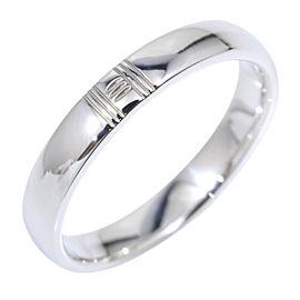 Hermes Kelly 18K White Gold Alliance Ring Size 5