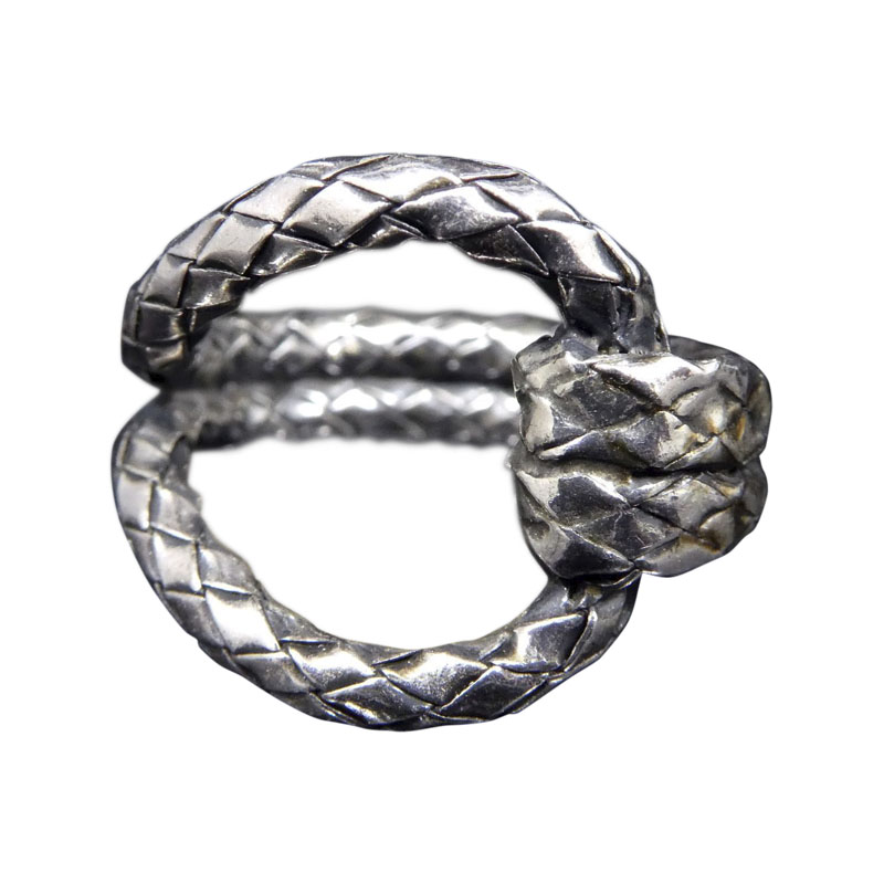 "Image of ""Bottega Veneta 925 Sterling Silver Ring Size 6.5"""