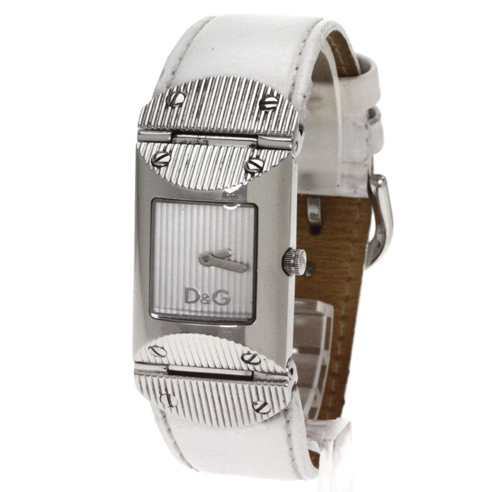 "Image of ""D&G Stainless Steel / Leather Quartz 22mm Womens Watch"""