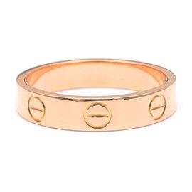 Cartier Mini Love 18K Rose Gold Ring Size 5.5