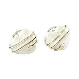 Tiffany & Co. 18K Yellow Gold & 925 Sterling Silver Cupid Arrow Heart Stud Earrings