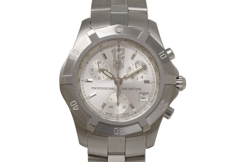 """Image of """"Tag Heuer Exclusive Cn1111 Stainless Steel with Silver Dial Quartz"""""""