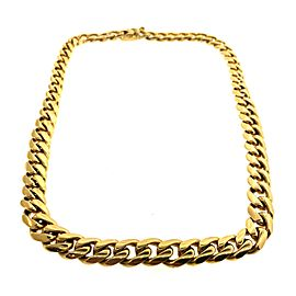Tiffany & Co. 18K Yellow Gold Curb Link Chain Vintage Necklace