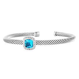 David Yurman Sterling Silver Topaz & Diamond Albion Bracelet