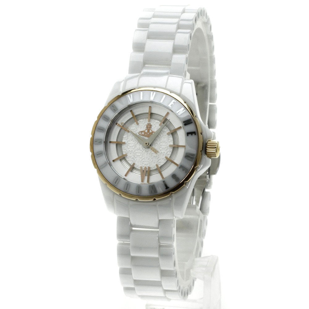 "Image of ""Vivienne Westwood VV 088 RSW Gold Plated & Ceramic Quartz 29mm Womens"""