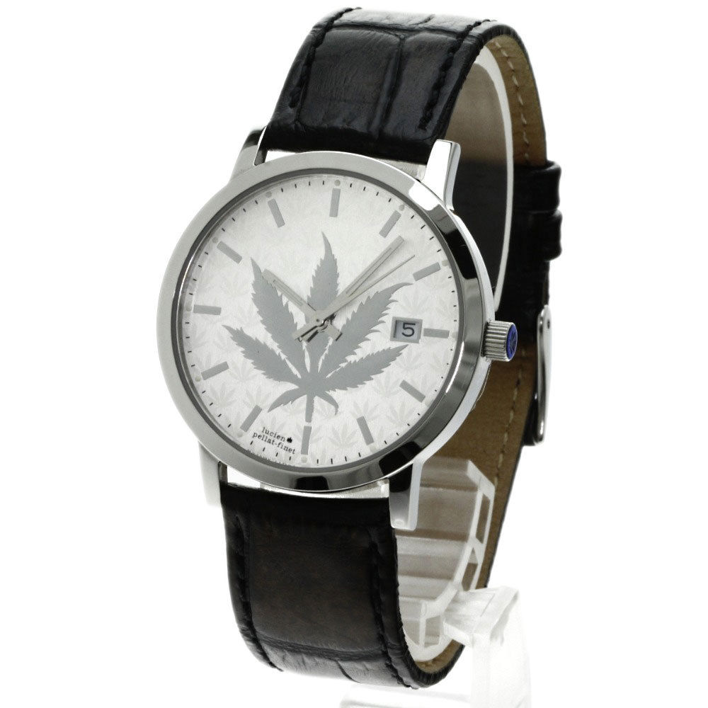 """Image of """"Lucien Pellat-Finet Stainless Steel & Leather Quartz 35mm Mens Watch"""""""