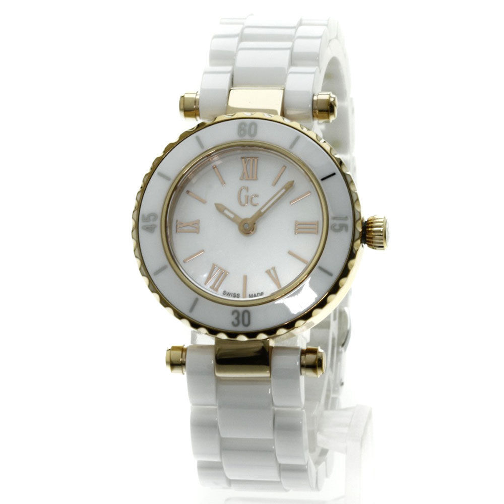 "Image of ""Guess GC Mini Chic X70011L1S/05 Gold Plated & Ceramic Quartz 28mm"""