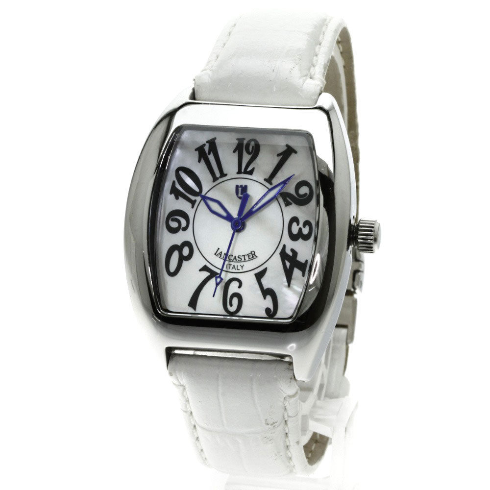 "Image of ""Lancaster 265 Stainless Steel & Leather Quartz 32mm Womens Watch"""