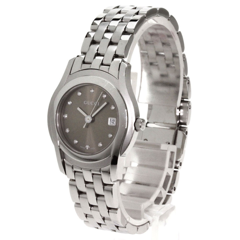 "Image of ""Gucci 5500L 11P Diamond Stainless Steel Quartz 27mm Womens Watch"""