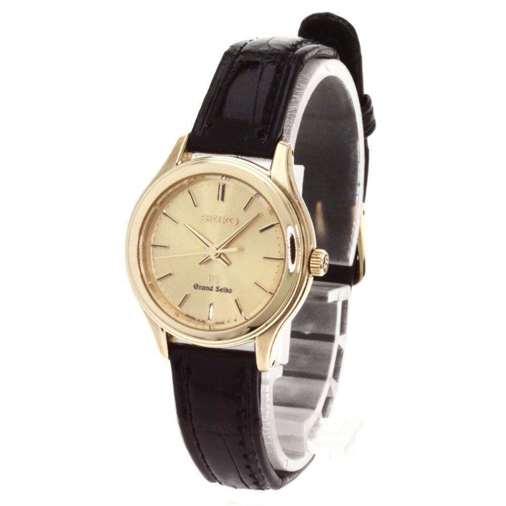 "Image of ""Seiko 4J51-0A20 Gold Plated & Leather Quartz 25mm Womens Watch"""