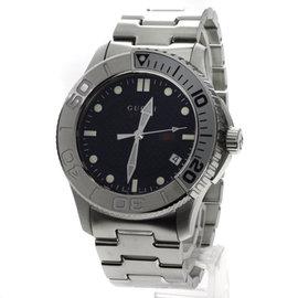 Gucci YA126.2 Stainless Steel Black Dial Quartz 45mm Unisex Watch