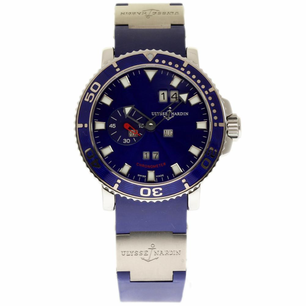 "Image of ""Ulysse Nardin Marine Acqua 333-77-7 Stainless Steel 42mm Mens Watch"""