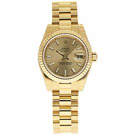 Rolex Datejust President 179178 18K Yellow Gold 26mm Womens Watch