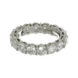 Tiffany & Co. Platinum 5.25ct. Diamond Band Ring Size 6.5