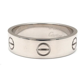Cartier Love 18K White Gold Ring Size 10.5