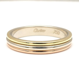 Cartier 18K Yellow White & Rose Gold Ring Size 8.5