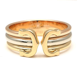 Cartier Cartier 18K Yellow White & Rose Gold 2C Ring Size 6