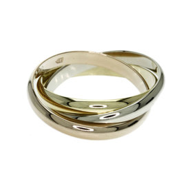 Cartier 18K Yellow, White & Rose Gold Trinity Ring Size 5.5