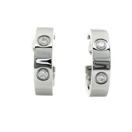 Cartier Love 18K White Gold Diamond Earrings