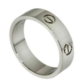 Cartier Love 18K White Gold Ring Size 9.5
