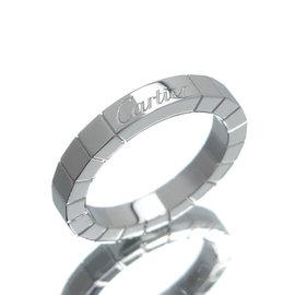 Cartier 18K White Gold Lanieres Ring Size 4.75
