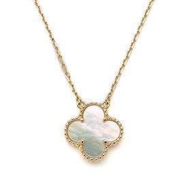 Van Cleef & Arpels 18K Rose Gold Alhambra Vintage Necklace
