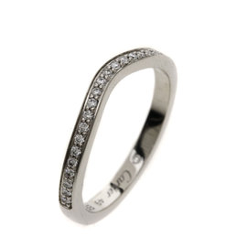 Cartier 950 Platinum with Diamond Wedding Ring Size 4.75