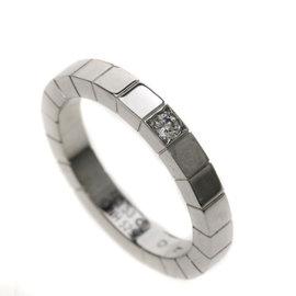 Cartier Ranieru 18K White Gold Diamond Ring Size 6.25