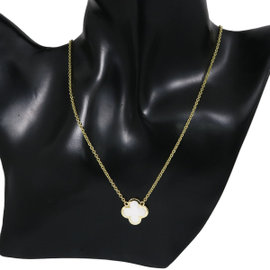 Van Cleef & Arpels 18K Yellow Gold with Mother of Pearl Pure Alhambra Necklace