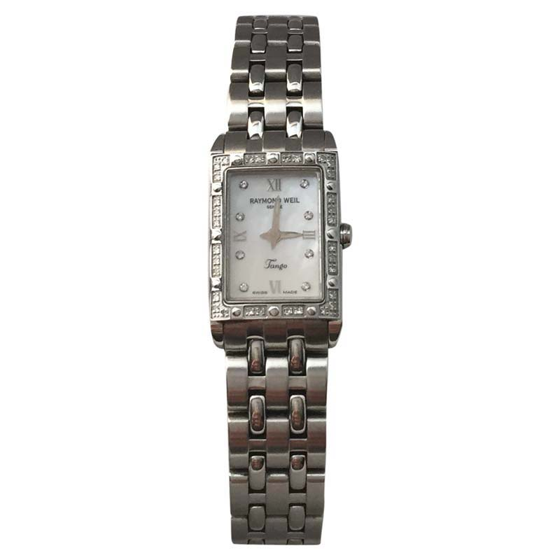 "Image of ""Raymond Weil 5971 Stainless Steel & Diamond 30mm Watch"""