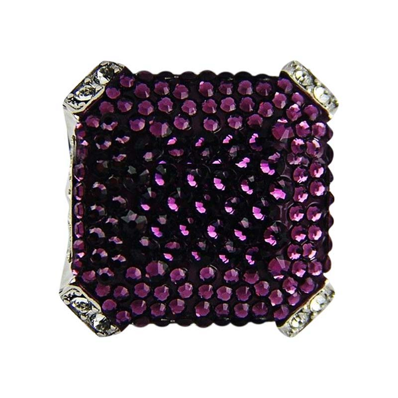 "Image of ""Judith Leiber Amethyst Christo Pave Large Swarovski Ring"""