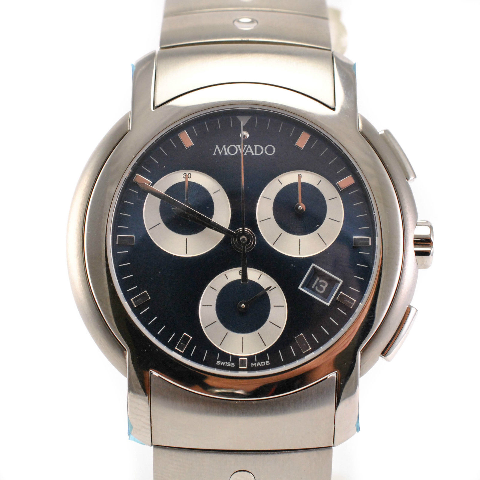 """Image of """"Movado 84 C5 189 Stainless steel Witch Chronogaph Men's Watch"""""""