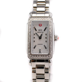 Michele MW15C01A2025 Stainless Baguette Day Diamond Chronograph Women's Watch