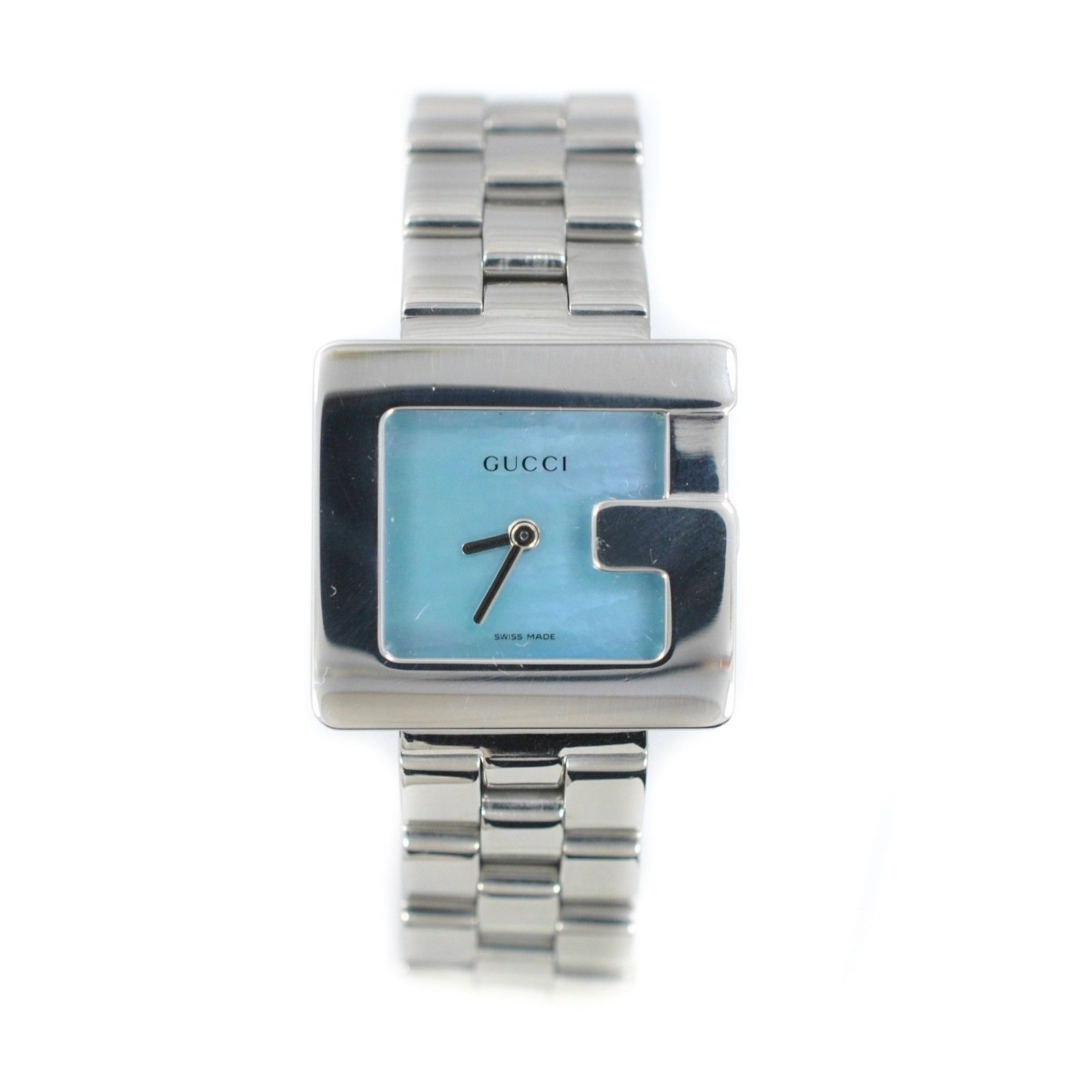 """Image of """"Gucci 3600 L Mother of Pearl Stainless Steel Quartz Ladies Watch"""""""