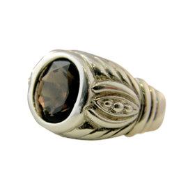 Judith Ripka 925 Sterling Silver Quartz Ring Size 10